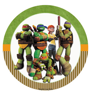 Ninja Turtles, Toppers or Free Printable Candy Bar Labels.