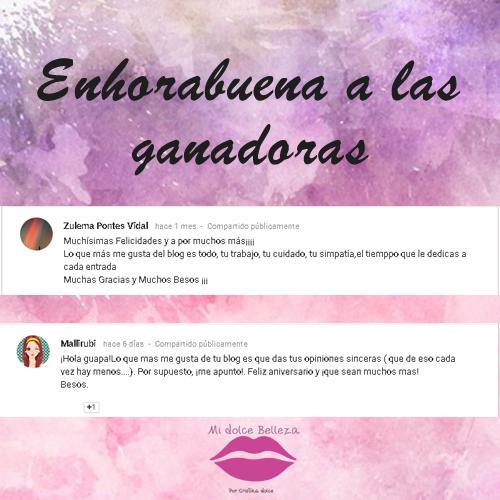ENHORABUENA A LAS GANADORAS