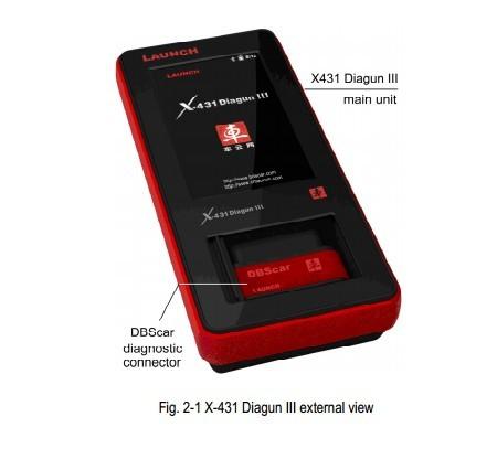 x431 diagun iiii main unit