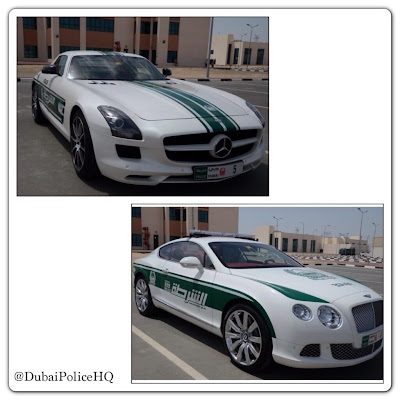 Dubai Police Fleet Cars: Mercedes SLS AMG, Bentley Continental GT, Aston Martin One-77, Lamborghini Aventador!