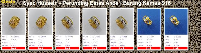 Galeri Emas Perhiasan 916 cincin | powergold by syedhusseingold