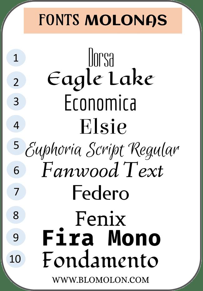 fonts molonas cuatro
