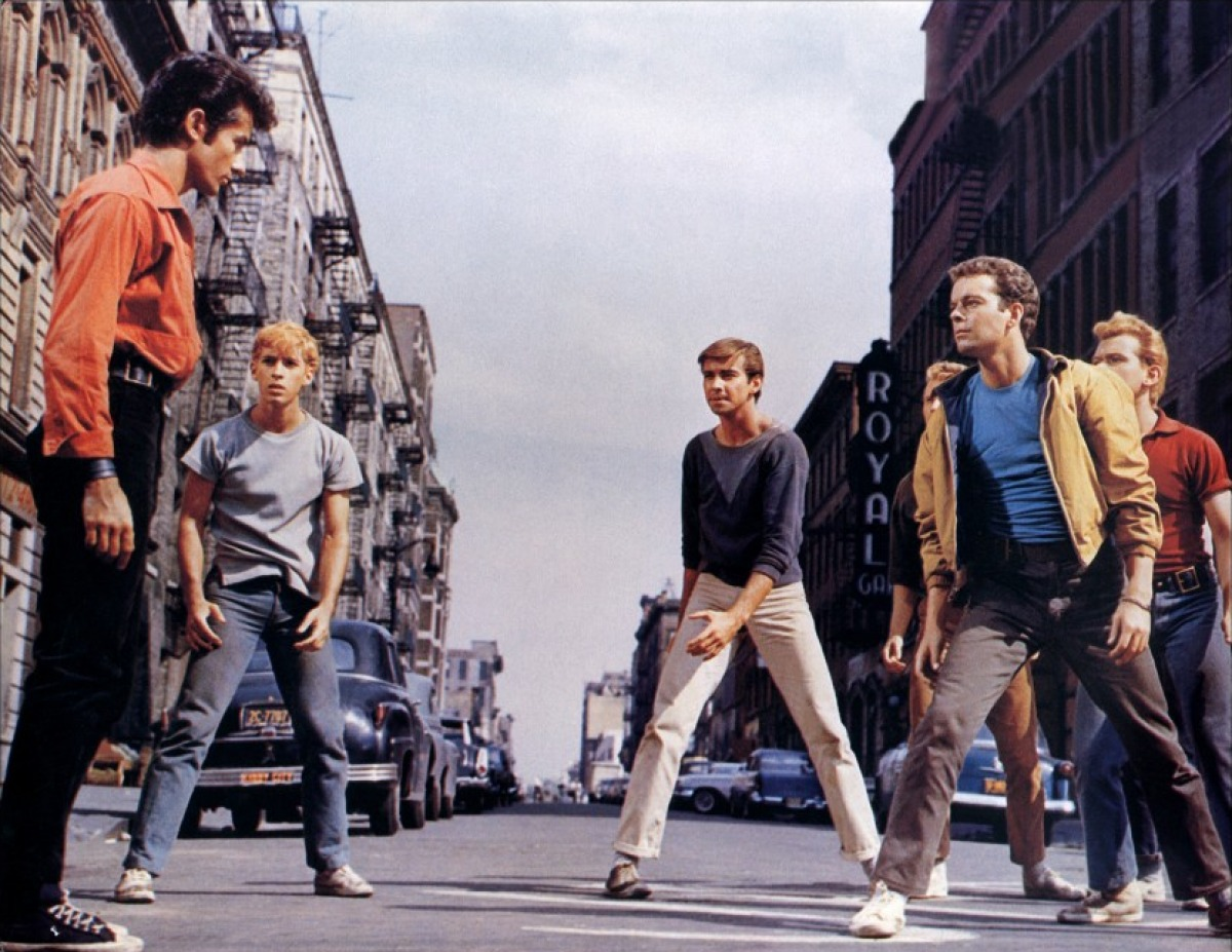 the battle between the jets and the sharks in west side story a musical by stephen sondheim The jets & the sharks were prohibited from interacting offstage  through west side story, lyricist stephen sondheim wanted the f-bomb to make its musical theater debut initially, this choice .