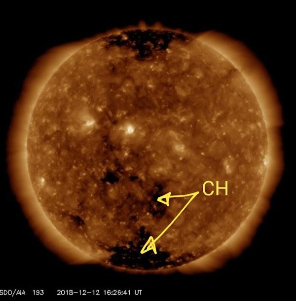 Viento solar llegara a la tierra en los proximos dias.