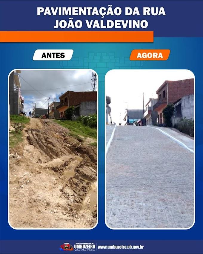 Prefeitura de Umbuzeiro conclui pavimentação da Rua João Valdevino