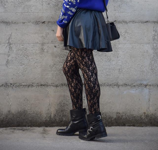 calze di pizzo outfit calze pizzo come abbinare le calze in pizzo mariafelicia magno fashion blogger colorblock by felym fashion blog italiani fashion blogger italiane blogger italiane di moda outfit febbraio 2017