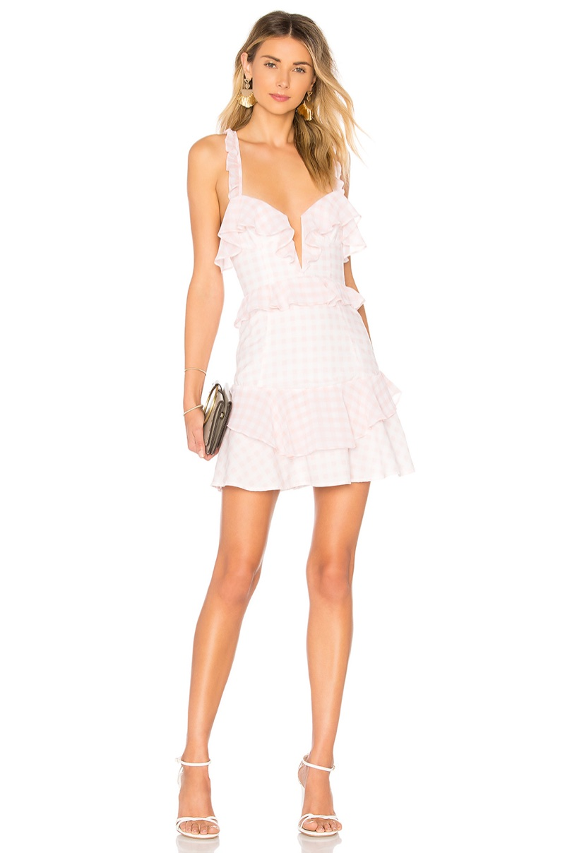 For Love & Lemons 'Dixie' Ruffled Mini Dress