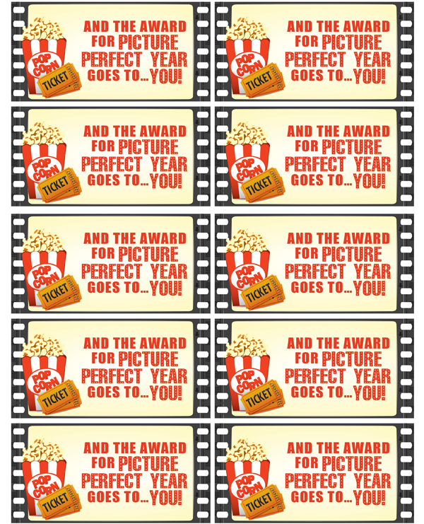 Free Printable Movie Themed Teacher Gift Tag