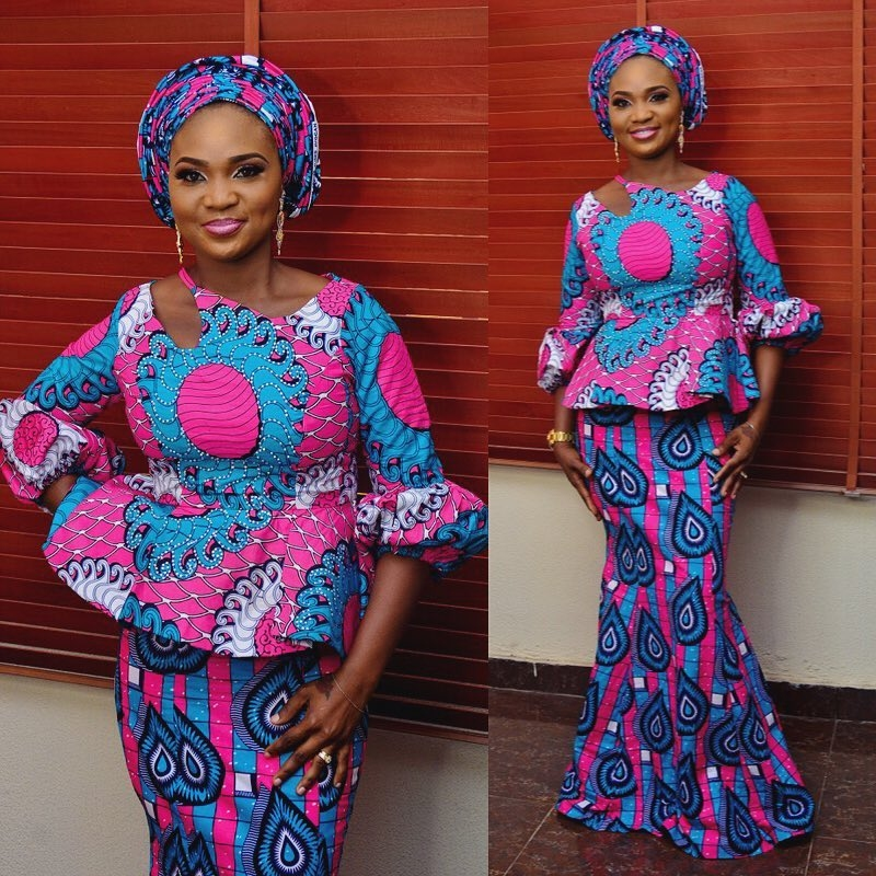 7846c86538491a Beautiful Ankara Skirt and Blouse Style for Wedding 2018 - DeZango
