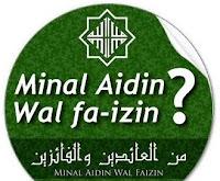 minal aidin wal faidzin bahasa arab