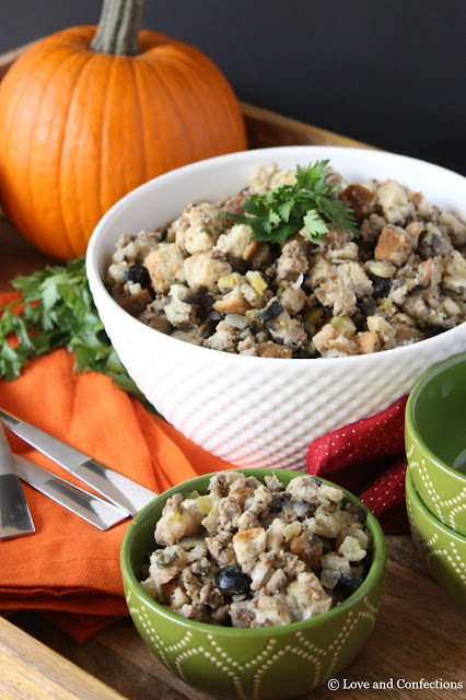 Italian Stuffing from LoveandConfections.com #Beefsgiving
