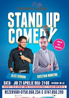 Stand-up Comedy  Joi 21 Aprilie Buzau