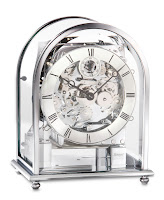 Kieninger Melodika Keywound Mantel Clock – Chrome Case 1226-02-04