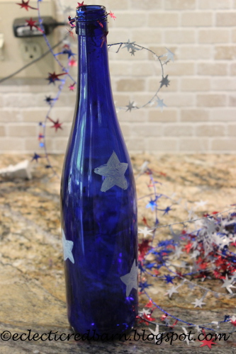 wine bottle with stars