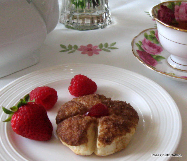 Rose Chintz Cottage Cinnamon Blossoms For Tea Time