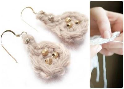 9 pares de Pendientes a crochet paso a paso