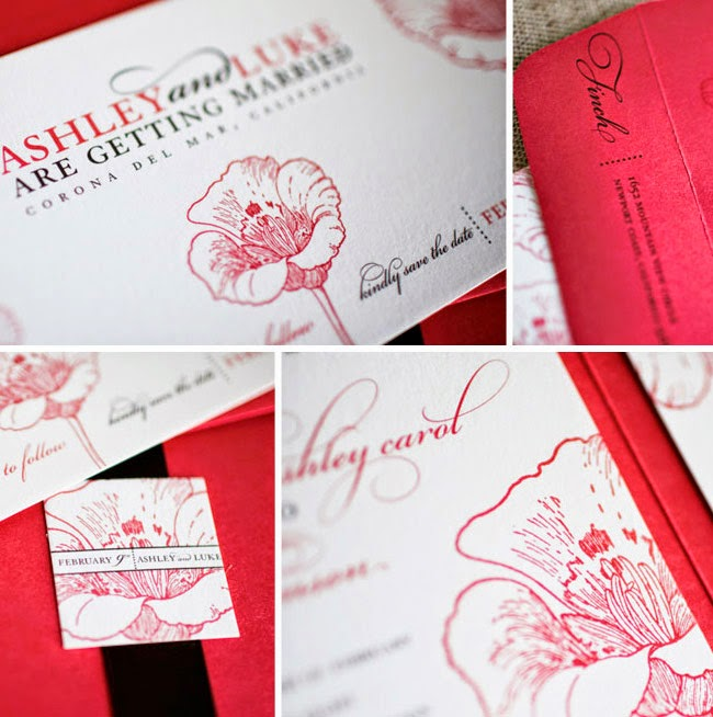 Romantic Valentines Wedding Invitations Ideas