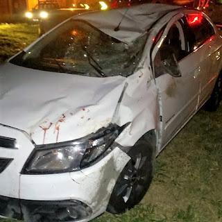 Em Remígio, picuiense bate o carro em animal na BR-104