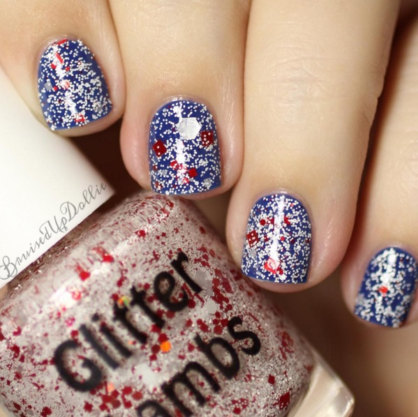 "Glitter Lambs ""Don't Touch My Candy Cane Milkshake"" Nail Polish worn by @bruisedsupdollie"