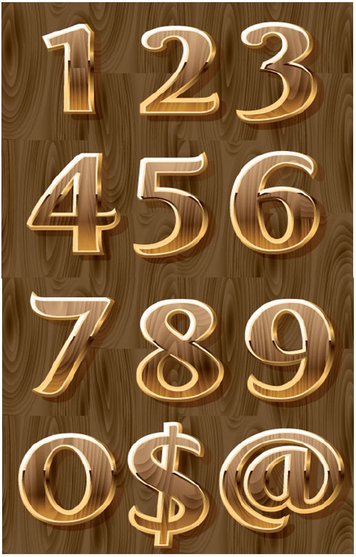 this is the 3d digital symbols design in vector format with wooden background this archived file contains 2 eps files with 155 mb size