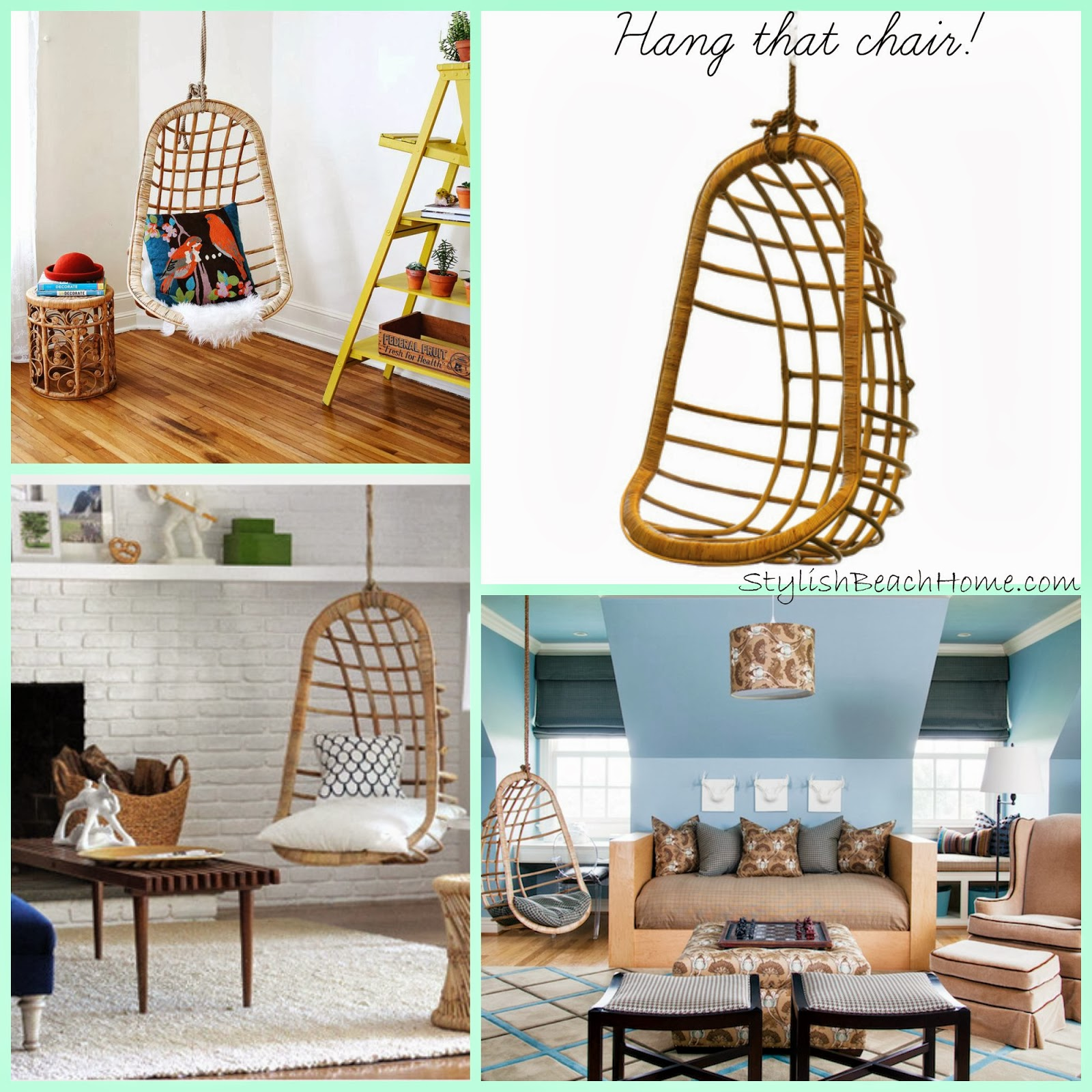 StylishBeachHome.com: Hanging Rattan Chair