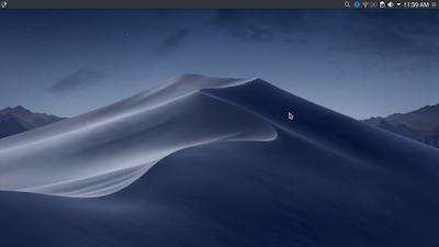 Membuat Tampilan Kali Linux Menjadi Mac OS Mojave - Drag Panel Edge