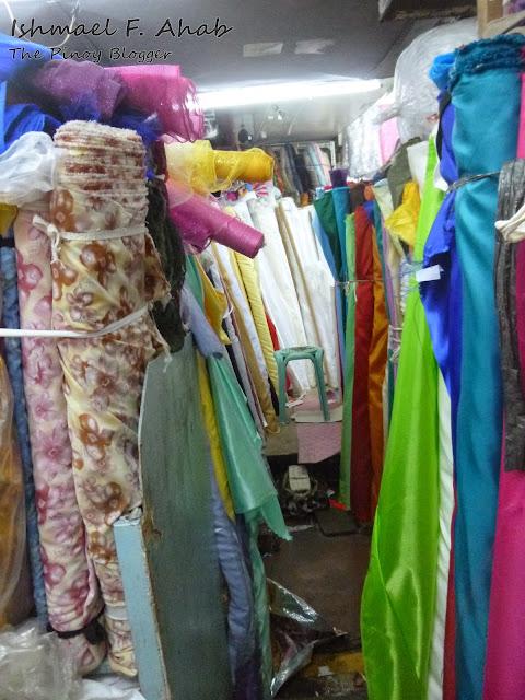 Rolls of cloth in Divisoria