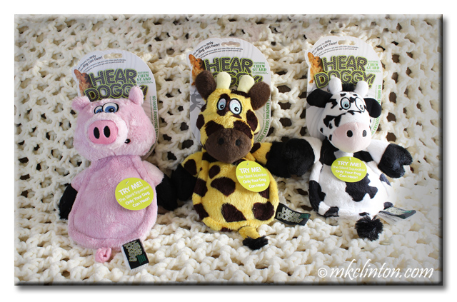 Hear Doggy pig, giraffe and cow flatties