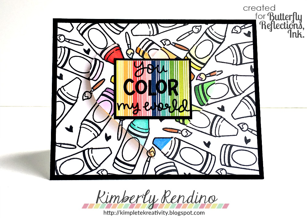 Butterfly Reflections, Ink.: Spotlight Coloring with Lawn Fawn!