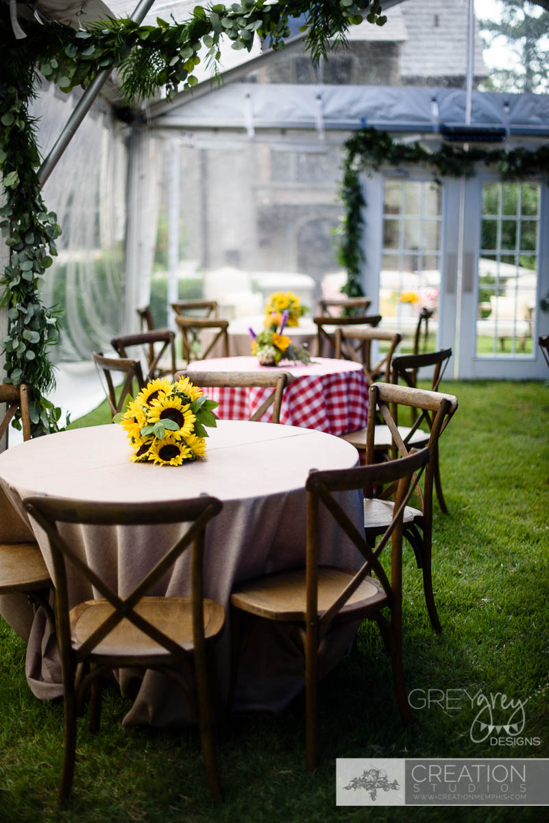 greygrey designs my parties tuscan summer backyard concert