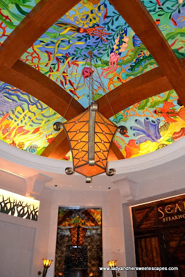 Atlantis The Palm's colorful ceiling