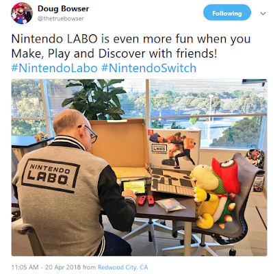 Doug Bowser Nintendo Labo tweet Bowser Jr. Cappy Robot Kit