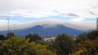 富良野から見た十勝岳