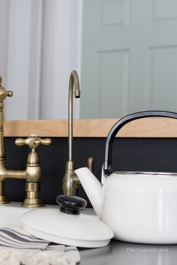 Stylish vintage brass filtration faucet for RO water systems