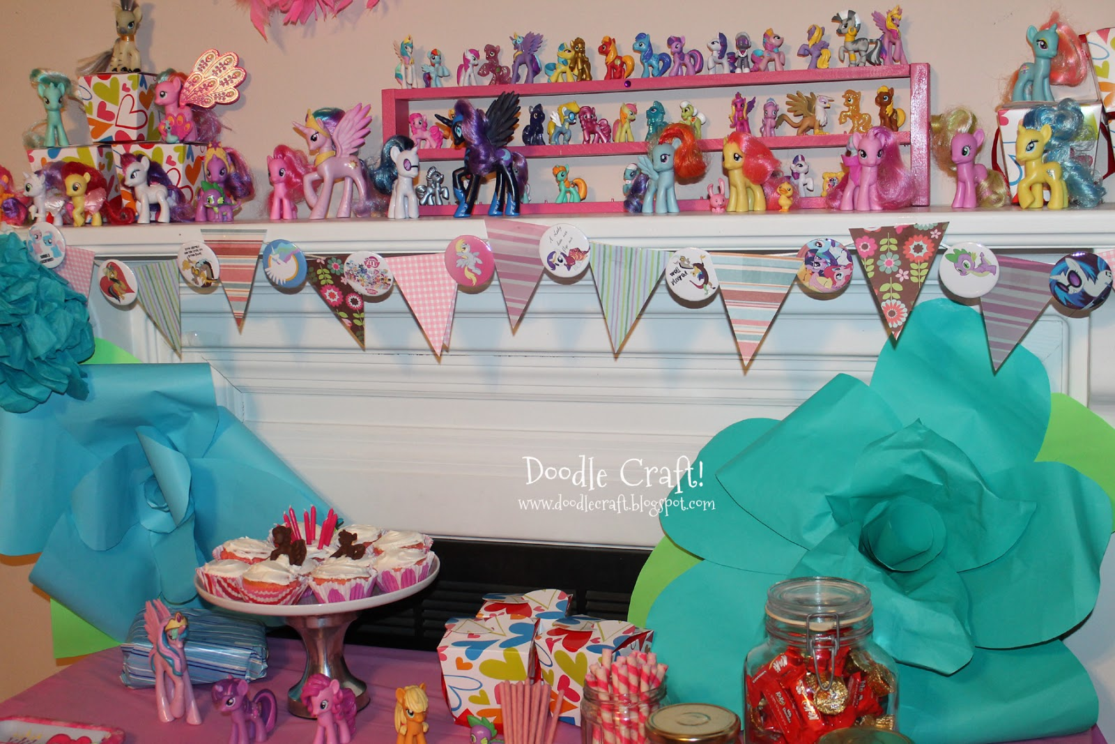 Doodlecraft my little pony budget party and chocolates for Crafts for birthday parties