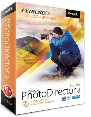 CyberLink PhotoDirector Ultra 9.0.2504.0 poster box cover