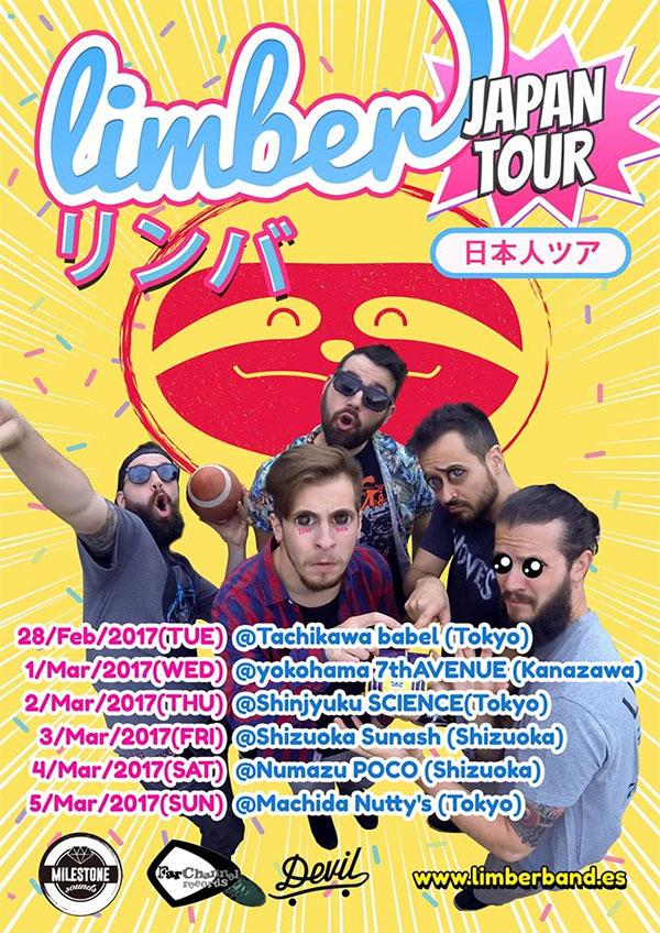 Limber announce japan tour 2017