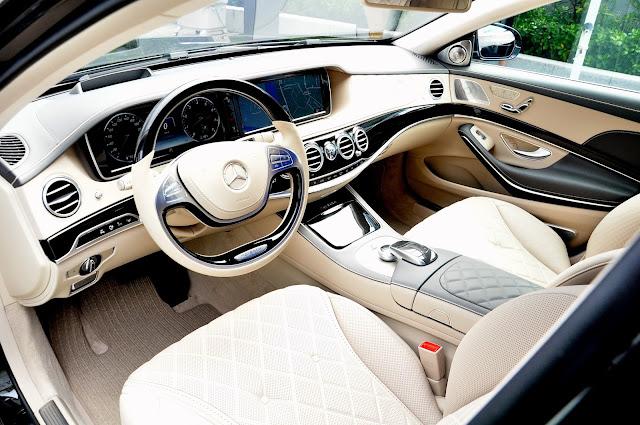 Mercedes Maybach S500 sử dung các trang thiết bị cao cấp được làm từ da, gỗ và kim loại cao cấp