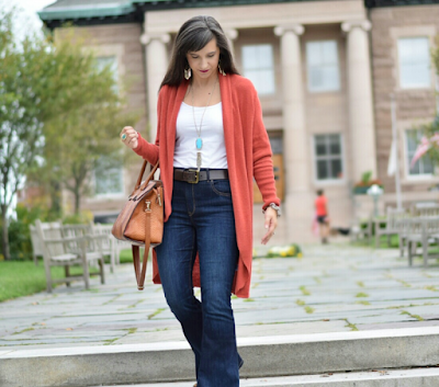 turquoise and orange for fall outfits