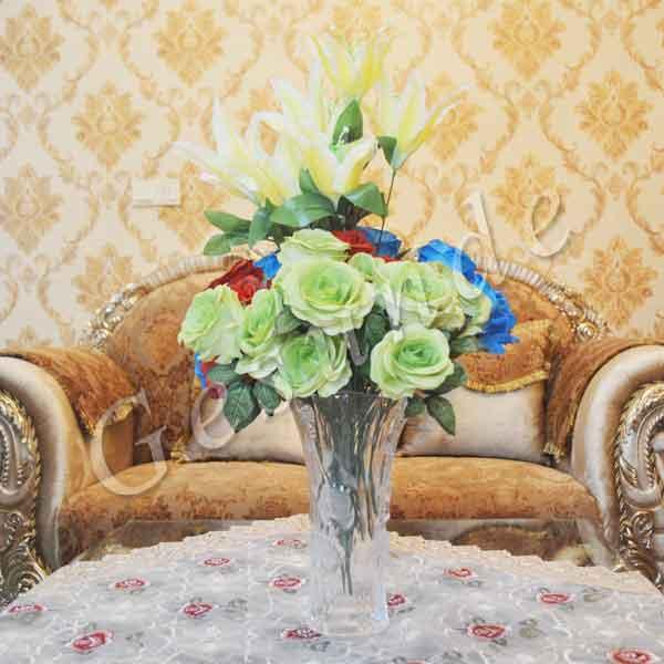 Pot kaca bunga hias