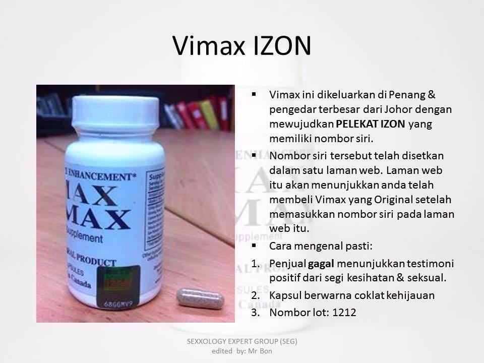 kheidi agent sah vimax dijamin original daripada seg group