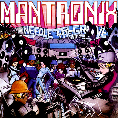 """MANTRONIX - NEEDLE TO THE GROOVE POSTER (23"""" X 23"""")"""