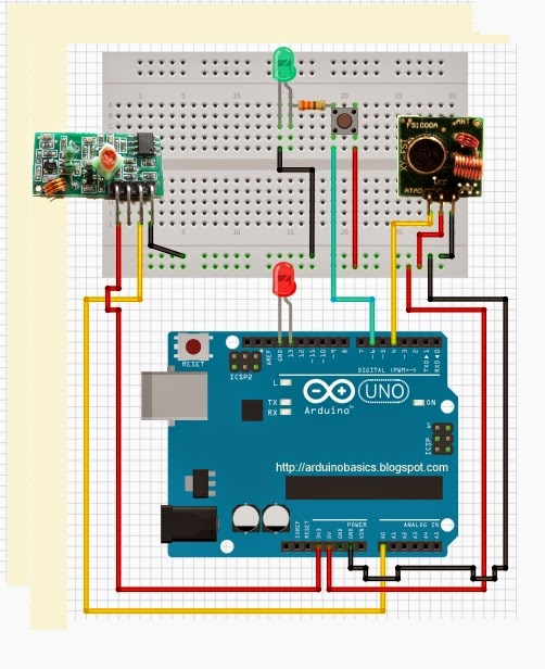 Arduino basics mhz rf module with tutorial