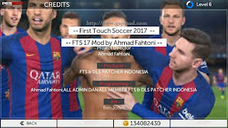 New FTS17 Mod PES17 by Ahmad Fahtoni Apk + Data
