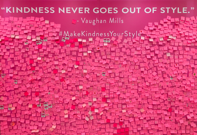 """Kindness never goes out of style."" - Vaughan Mills"