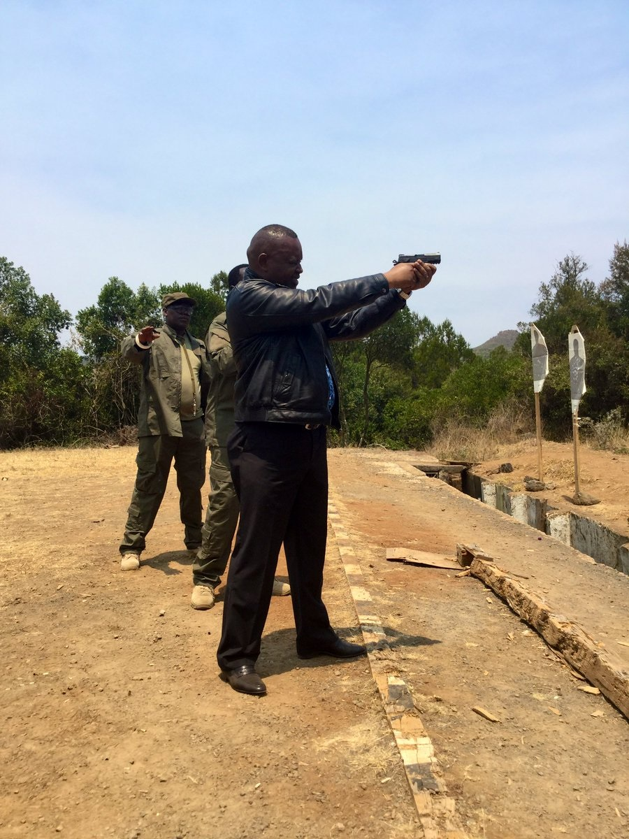 bunde%2B1 - This man is no joke! DCI boss, GEORGE KINOTI, shows off his shooting skills(PHOTOs).