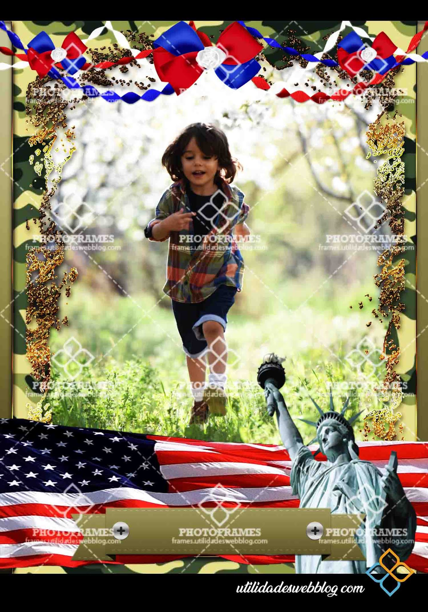 Marco para fotos del 14 de julio u otra celebración norteamericana