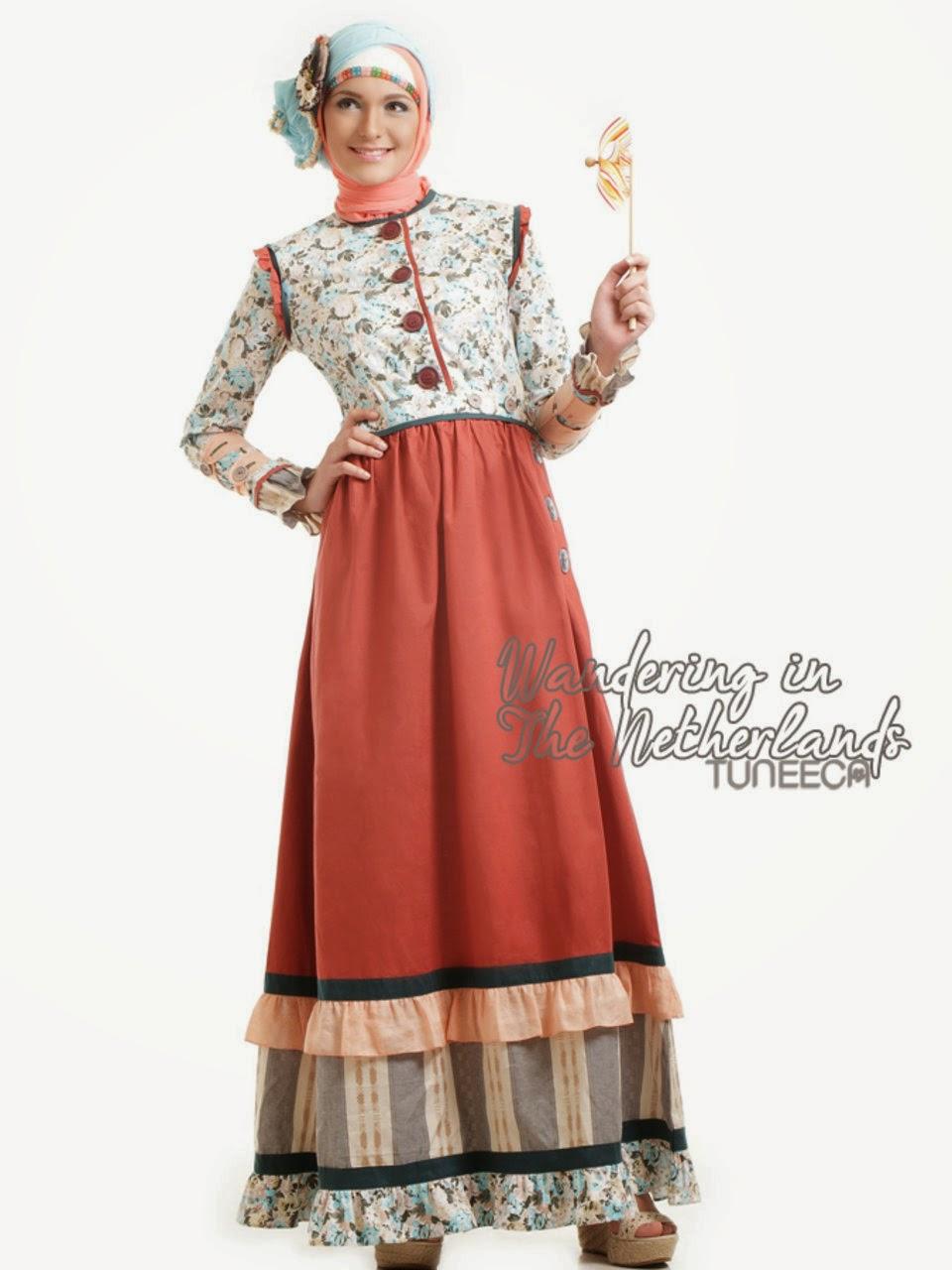 12 Contoh Model Gamis Muslim Lebaran Terbaru Kumpulan Model Baju