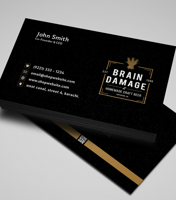 85 best free psd business card templates photoshop download free black business card template psd download reheart Image collections
