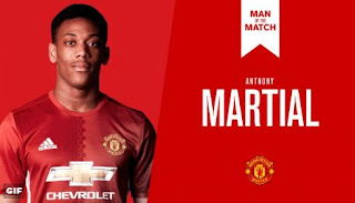 Anthony Martial Man of the Match MU vs Watford 2-0